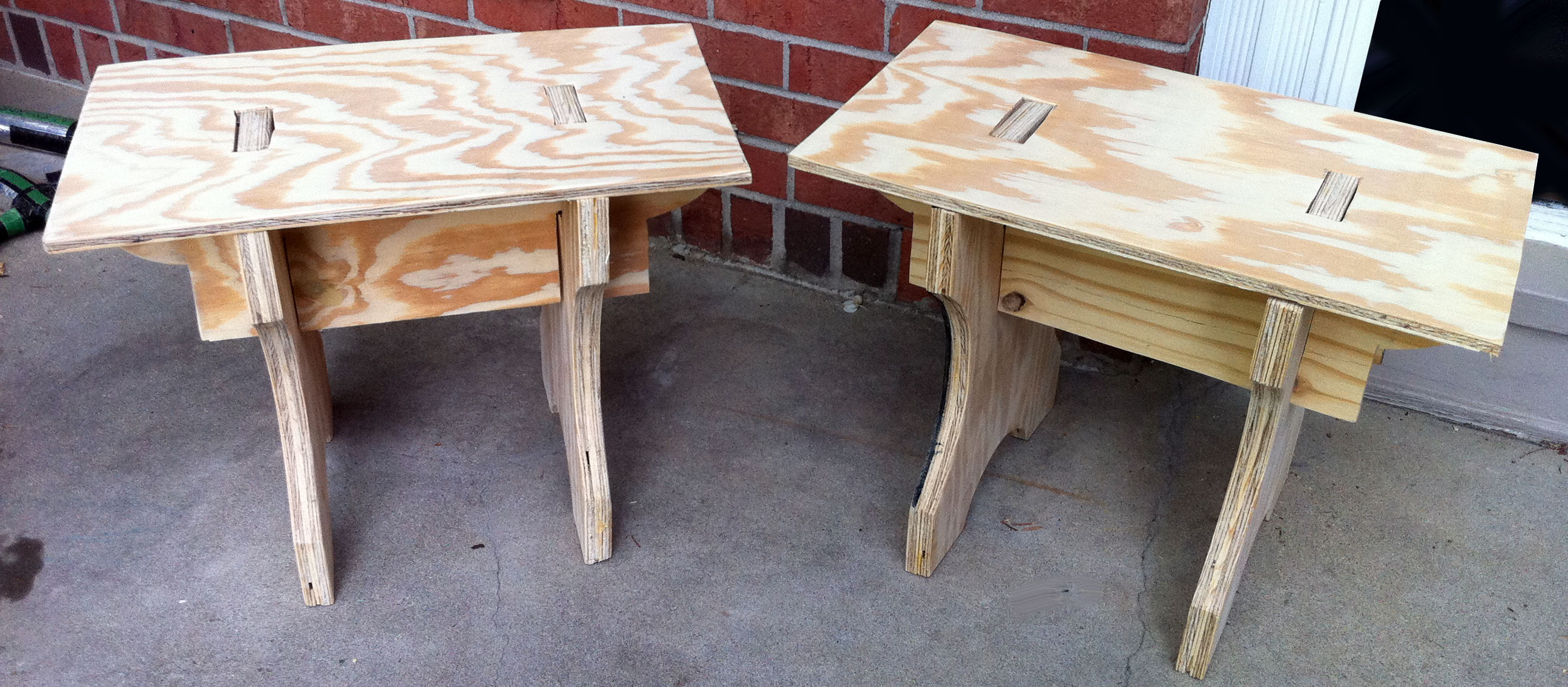 Simple Camp Benches