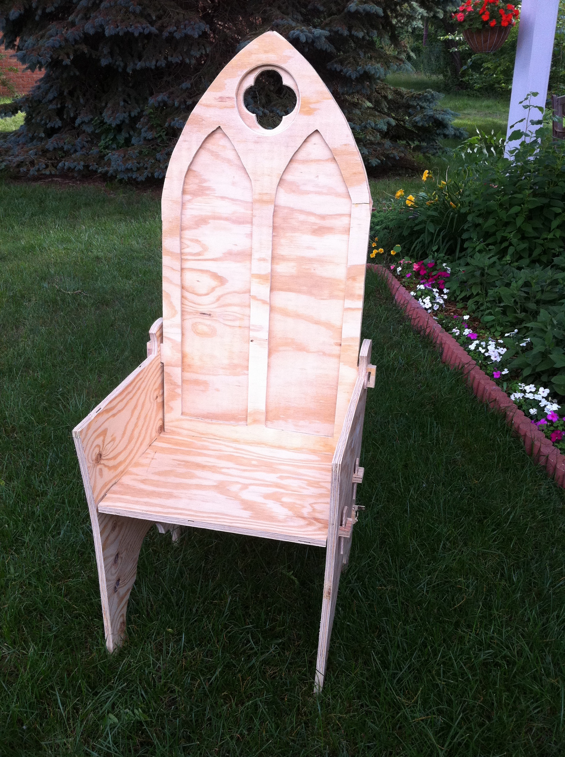 A Gothic Chair: Making Progress On My Camp Chair ...