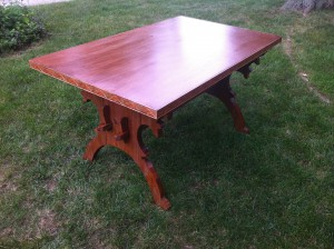 My inexpensive but lovely trestle table