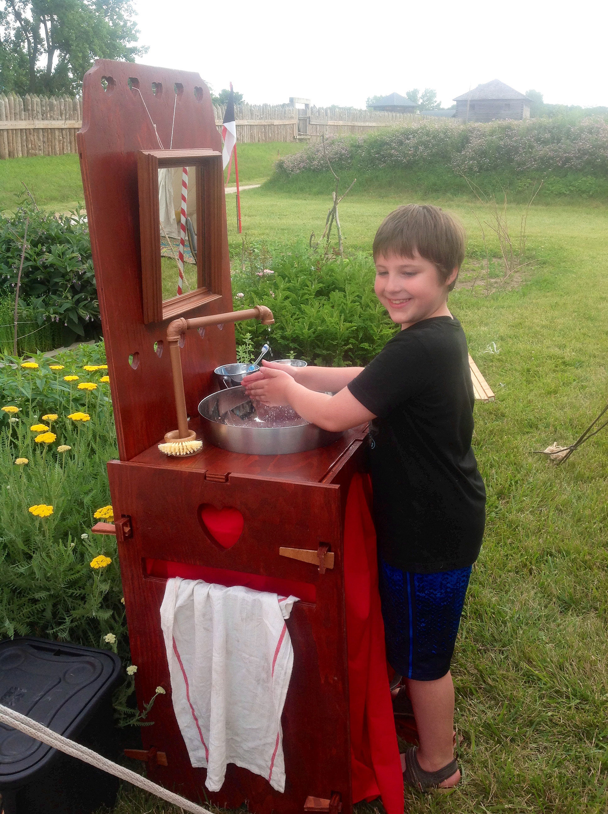 Build Your Own Camp Sink With Running Water Materials And