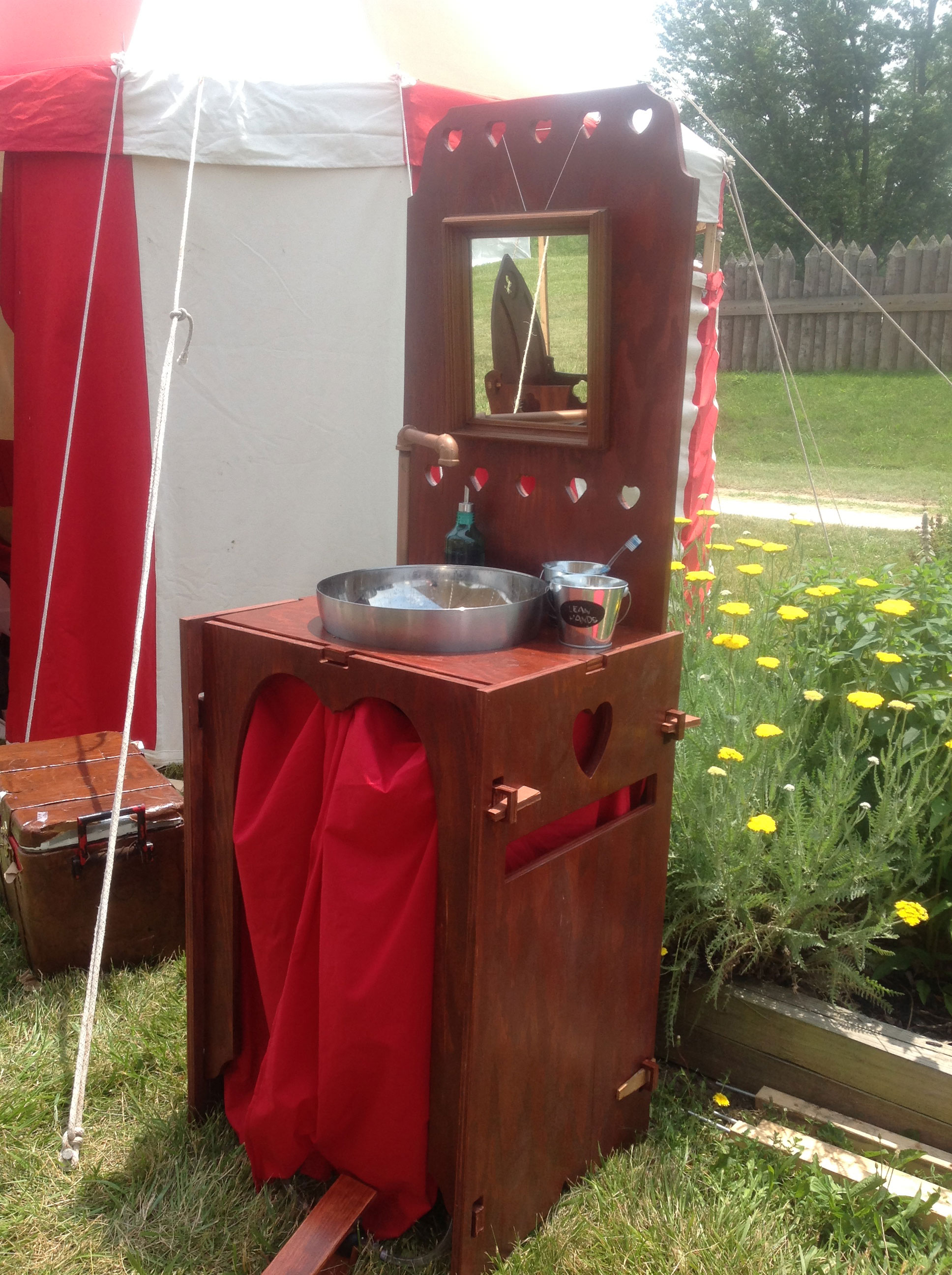 Homemade camp kitchens car interior design for Wooden camp kitchen designs