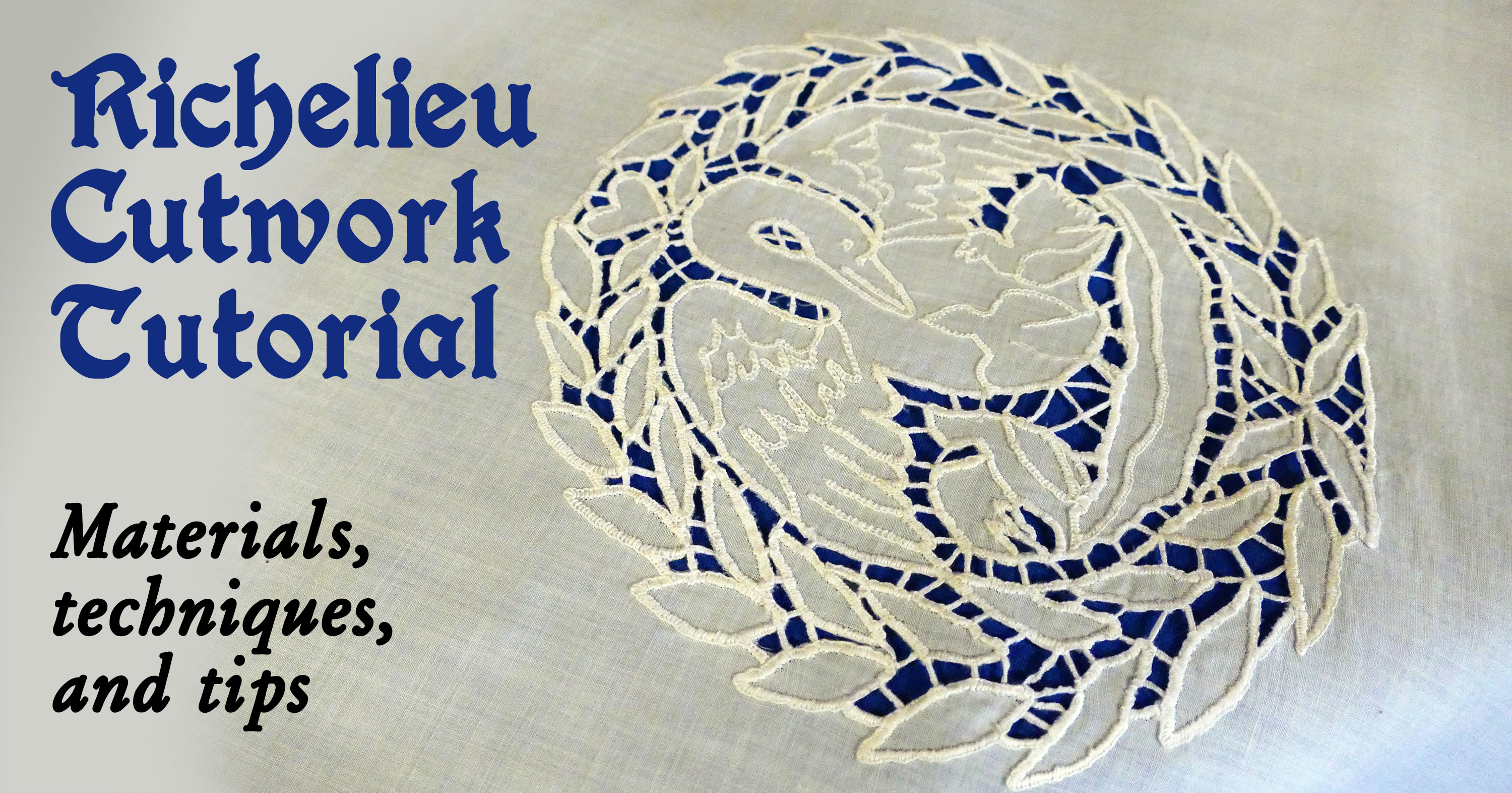 Richelieu Cutwork Embroidery Apron And Tutorial Embroidery