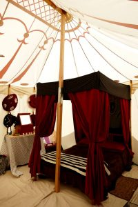 Four poster bed at Pennsic